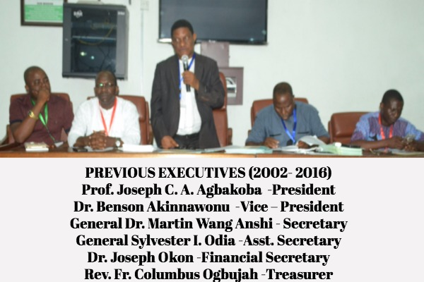 PROF. J.C.A AGBAKOBA AND EXCOS